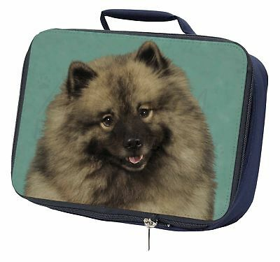 Keeshond Dog Navy Insulated School Lunch Box Bag, AD-KEE1LBN