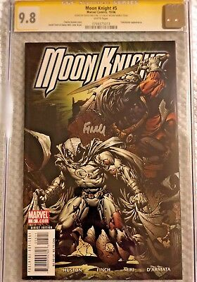 MOON KNIGHT (2006) #5 SS CGC 9.8 MT/NM - White Pgs - signed by Finch, Taskmaster