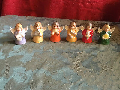 Lot of 6 Humell Goebel Annual Angel Bell Ornament's  1981 82 83 86 88 89 Signed