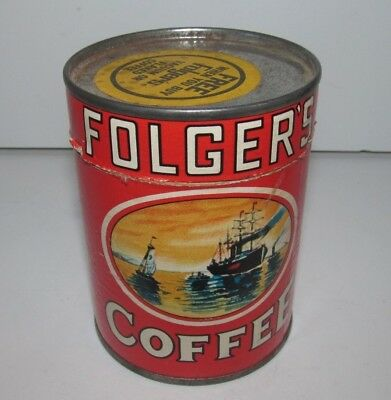 Vintage Folgers Coffee Advertising Complete Jigsaw Puzzle & Container