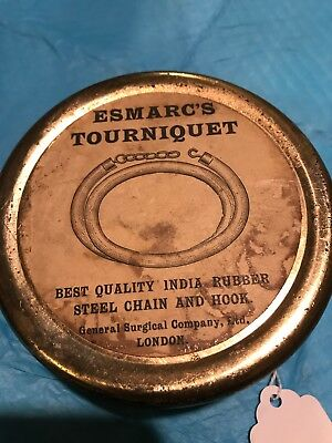 Antique Medical Tourniquet Esmarc's Best Quality India Rubber..... London. C24