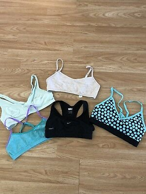Youth Girls Lot Of 5 Sports Bras Size Small Ivivva Nike Aerie