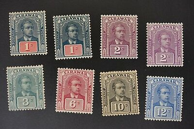 Sarawak #79//87 lot of F/VF mint hinged stamps (v010)