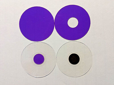 Microscope 32mm Mini-Rheinberg Purple Filter Set - Great To Start Or To Evaluate