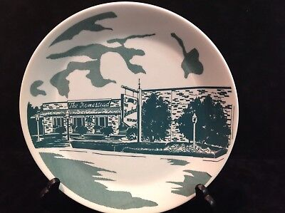Vintage Restaurant Plate Syracuse China Syralite 15-D The Homestead, Collectible