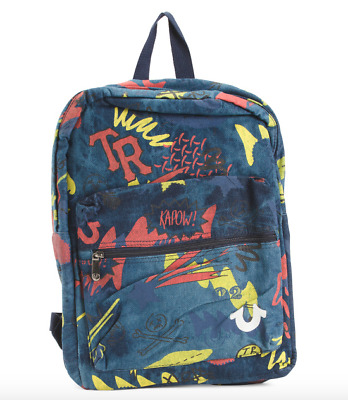 True Religion Back to School Backpack Kids Blue Denim Book Bag Jeans NEW NWT 85b699ceacc0c