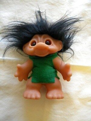 "Troll Doll 1967 Vintage Dam Big Nose 5"" Tall Black Hair"
