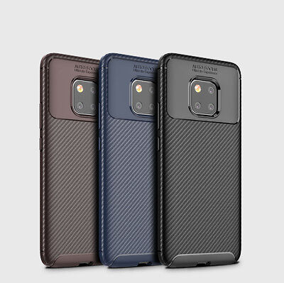 For Huawei Mate 20 Pro Matte Frosted Protective TPU Back Cover Carbon Fiber Case
