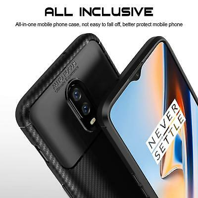 For OnePlus 6T 1+6T Matte Frosted Protective TPU Back Cover Carbon Fiber Case