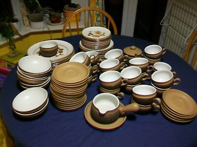 Denby Cotswold-plates, bowls, condiments, cups and saucers (unused?)
