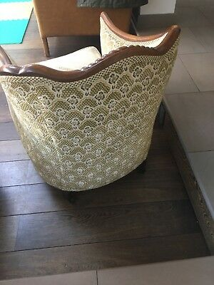 antique carved tub chair - great condition.