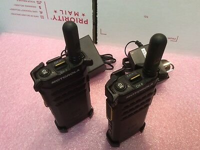 Motorola SL300 *THIN* UHF 99 Channels DMR GMRS FRS HAM Two Way Radios *PAIR*