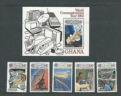 1983 World Communications Year set 5 & Mini Sheet Complete MUH/MNH as Issued