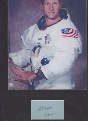 AL WORDEN signed paper Apollo 15 + pic in display UACC RD Retiring Sale