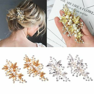 Wedding women hair bride Accessories Silver Comb piece Clip Pin Bridal pearl