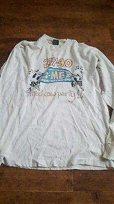 Inspiral Carpets Original Vintage G-Mex 1990 T-Shirt Size Xl Mad Cow Party Moo!
