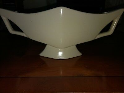 Crown Devon large Vintage window vase - art Deco style