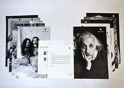 Apple Think Different Educator Posters 11x17 - Full Set of 10 - Authentic