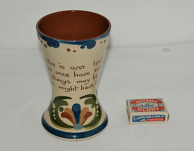 """6"""" ALLER VALE TWIN HANDLE VASE WITH SCANDY & MOTTO  """" No star is ever lost ..""""."""