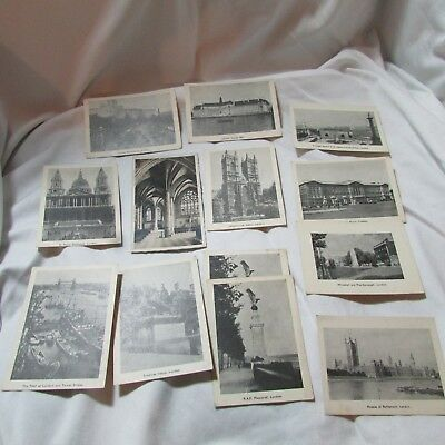 Vintage 1940's WWII Lot of 13 B&W Photo Cards, Postcards London England