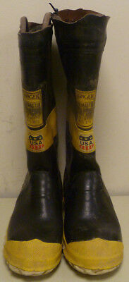 Ranger FireMaster Firefighter Turnout Gear Boots Steel Toe Size 8 R241
