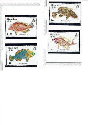 Hong Kong Stamps MNH 1981 Fish x 4. CV $4