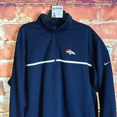 3b10e868 NIKE GOLF Tour Performance ThermaFit NFL Denver Broncos 1/4 Zip Pullover XXL