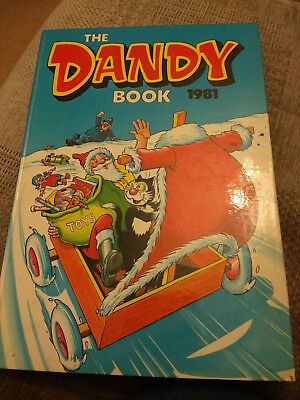 THE DANDY BOOK ANNUAL. 1981. Good condition. Price intact.