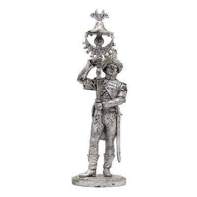 "Tin toy soldier ""French army - musician w/ tug (banner)"" metal 1/32 (54mm) #F25"