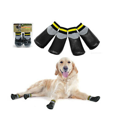 4x Waterproof Dog Socks Non-Slip Pet Rain Snow Boot Shoes for Injured Paw 7 Size