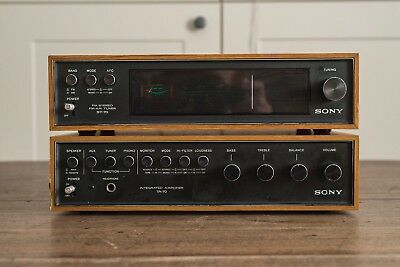 Sony TA70 Amplifier with Sony ST70 Tuner. Vintage H-Fi