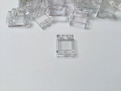 Lego Wall Element 1x2x2 Clear/transparent Window #94638 50pc Lot