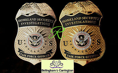 gv/ Historisches police badge/ HSI  Task Force Officer, choose gold  OR  silver