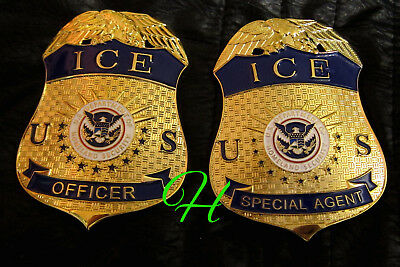 gv/ Historisches police badge + ICE  Security Officer or Special Agent, hall B&C