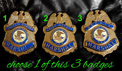gv/ Historisches police badge +  1 from 3  different old IKE Marshal badges