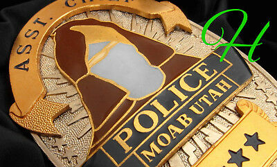 gv/ Historisches police badge + Asst. Chief Police Moab , Utah