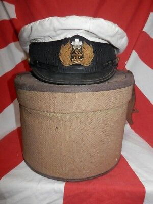 WW2 Japanese Navy Officer Hat and Box.Mr DANJYOU.Very Good