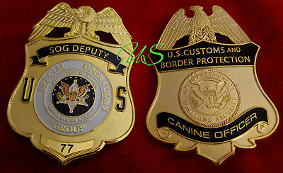 gv/ Historisches badge + SOG Deputy, Special Operations .. OR CBP Canine Officer