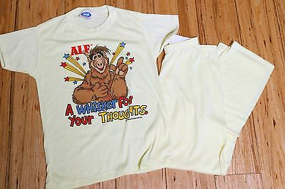 Vintage 80's ALF Pajamas Summer Set Made in USA Childs Size 14 Flame Resistant