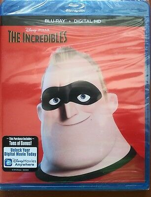 The Incredibles (Blu-ray+Digital HD) ** Brand New**  NS