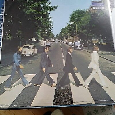 AWESOME NOS Beatles Abbey Road Poster 24 x 24  Studio London 2014 FREE SHIPPING