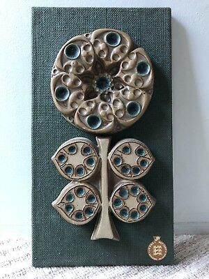 Fab 1970s Jersey Pottery Wall Plaque