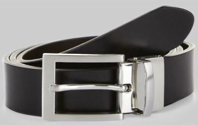 cb15e91175a9 Moss 1851 Mens 2 in 1 Black Brown (Reversible) Bonded Leather Suit Belt