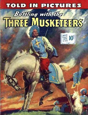 THRILLER PICTURE LIBRARY No.173 - THE THREE MUSKETEERS  Facsimile