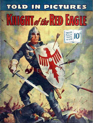 THRILLER PICTURE LIBRARY No.172 - KNIGHT OF THE RED EAGLE  Facsimile