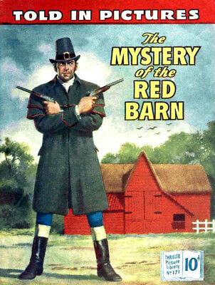 THRILLER PICTURE LIBRARY No.171 - THE MYSTERY OF THE RED BARN  Facsimile