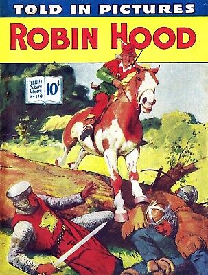 THRILLER PICTURE LIBRARY No.170 - ROBIN hOOD  Facsimile