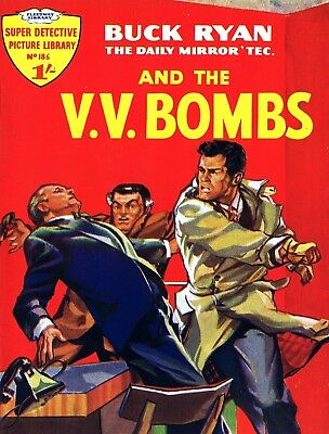 SUPER DETECTIVE LIBRARY No.186 BUCK RYAN AND THE V.V. BOMBS - Facsimile