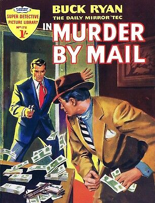 SUPER DETECTIVE LIBRARY No.178 BUCK RYAN IN MURDER BY MAIL - Facsimile