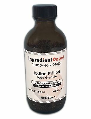 Iodine Prilled 99.8% USP/ACS/EP from Chile | 249g (under eBay 250g rule)